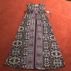 NWT Style & Co Printed Sleeveless Dress